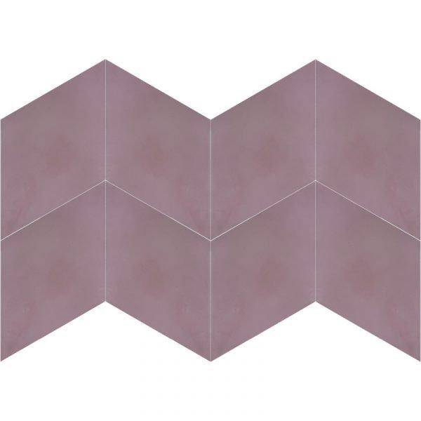 Moroccan Encaustic Cement Rhombus Dusty Pink