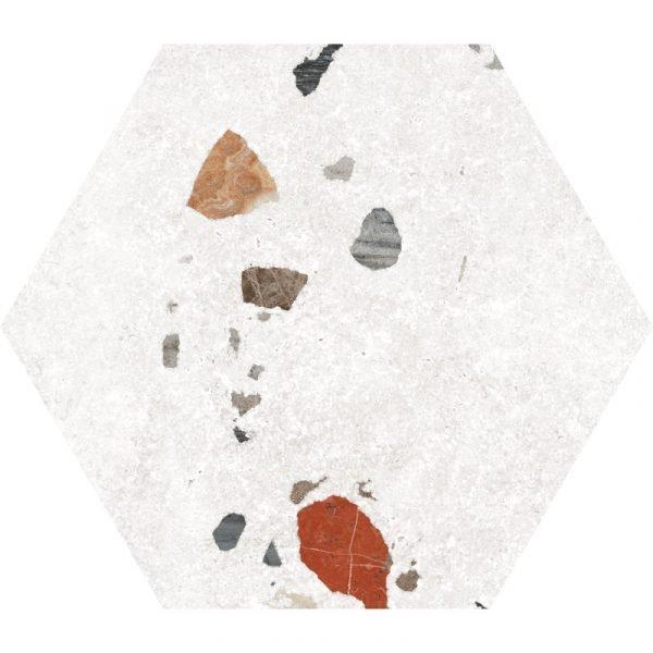 Sonar White Hex 22cm x 25cm