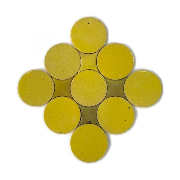 Zellige Circle Yellow 13.5cm
